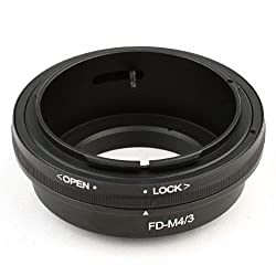 Neewer Lens Mount Adapter for Canon FD Lens to Micro 4/3 Olympus PEN and Panasonic Lumix Cameras, such as Olympus PEN E-P1 P2 P3 P5 E-PL1 PL1s PL2 PL3 PL5 PL6 E-PM1 PM2 OM-D E-M5 E-M1, Panasonic Lumix DMC-GH1 GH2 GH3 GX7 G1 G2 G10 G3 G5 G6 GF1 GF2 GF3 GF5 GF6 GX1 GM