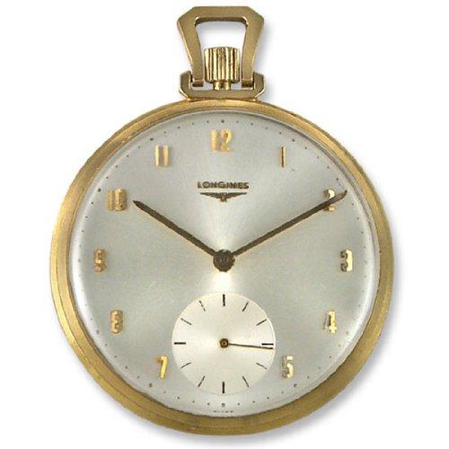 Antique Pocket & Wrist Watches Longines 14k Gold Open Face Mens Vintage Pocket Watch Pwlg0600-a