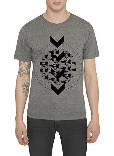 Camisetas-de-Moda-Designer-Cool-Fashion-Rock-para-Hombre-Camiseta-Negra-Gris-con-Estampada-NO-MAN-LAND-Cuello-redondo-Manga-corta-Algodn-Alta-calidad-Ropa-Moderna-para-Hombres-S-M-L-XL-XXL