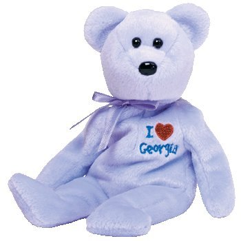 TY Beanie Baby - GEORGIA the Bear (I Love Georgia - State Exclusive)