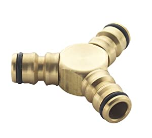 Spear & Jackson Triple Male Brass Hose Connector