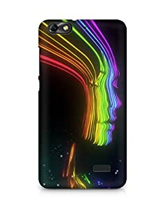 Amez designer printed 3d premium high quality back case cover forHuawei Honor 4C (girl rainbow colourful )