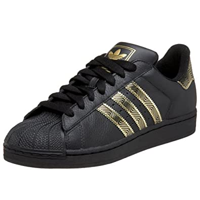 adidas originals mens superstar 2 trainers black black gold 9 uk shoes bags. Black Bedroom Furniture Sets. Home Design Ideas