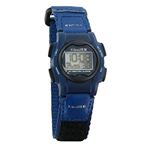 VibraLITE Mini 12-Alarm Vibrating Watch - Navy Blue by Global Assistive Devices