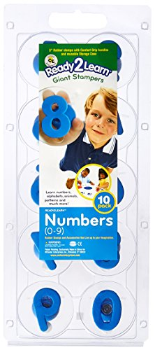 Center Enterprise CE6732 READY2LEARN Giant Number Stamps, 0-9 (Pack of 10)