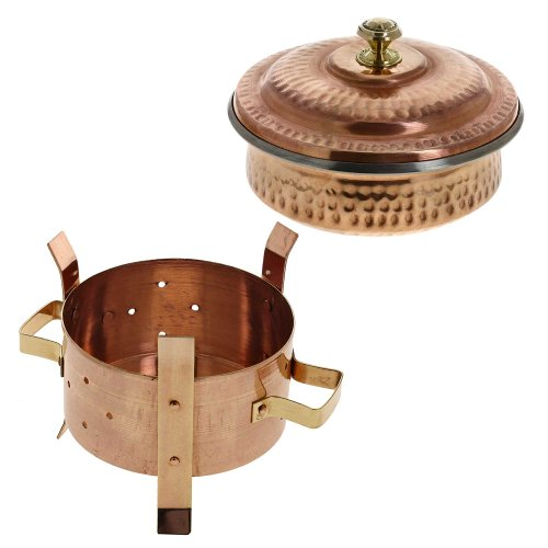 Angithi food warmer and serving bowl with lid set indian for Angithi indian cuisine