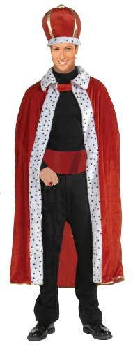 Forum Novelties Men's King Robe and Crown Set