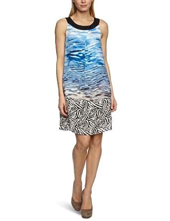 MEXX METROPOLITAN Damen Kleid (knielang) 6BDTD007, Gr. 40 (L), Blau (427)
