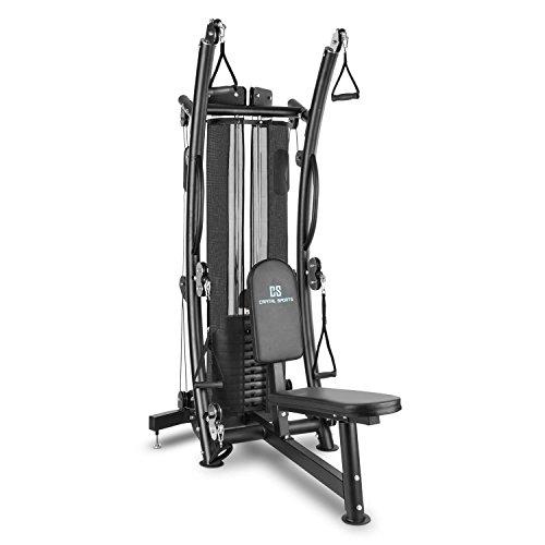 Capital Sports PUISSANTOR B15 stazione fitness allenamento multifunzione palestra (tre gruppi di cavi, fino a 150 lb, struttura modificabile ) acciaio