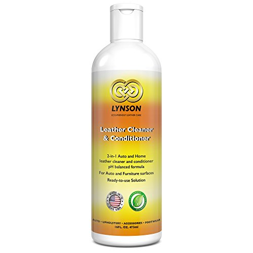 LYNSON Leather Cleaner and Conditioner - Eco-Friendly - Non-Toxic - pH balanced - Best for your Furniture, Car Seats, Sofas, Shoes, Bags, Purses - Made in the USA - 90 Day Satisfaction Guarantee (Leather Furnture Conditioner compare prices)