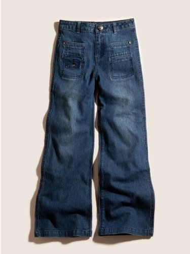 41qebcacKHL GUESS Kids Girls Ultra Flare Jeans with Front