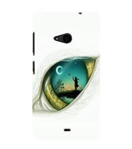 printtech Eye Girl look View Back Case Cover for Nokia Lumia 535::Microsoft Lumia 535