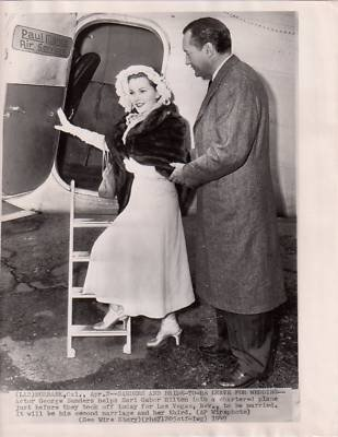 photo original a7262 george sanders zsa zsa gabor at
