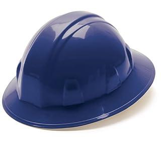 Pyramex Blue Full Brim Style 4 Point Ratchet Suspension Hard Hat