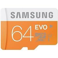 Samsung EVO class 10 micro sdhc Memory Card, 64GB, With Adapter