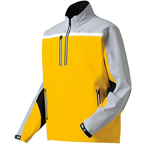 FootJoy DryJoys Tour XP Golf Pullover 2015 Gold/Silver Large (Footjoy Rain Suit compare prices)