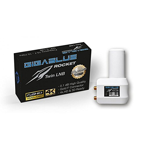 gigablue Rocket Twin Mult ifeed LNB 40 mm Flux 0.1dB Full HD
