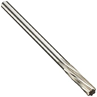 Alvord Polk 127-2 High-Speed Steel Chucking Reamer, Left Hand Spiral Flute, Round Shank, Uncoated (Bright)