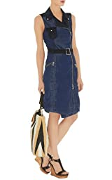 Denim Zip Biker Dress