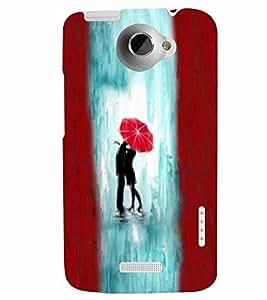 PrintVisa Cute Cartoon Couple 3D Hard Polycarbonate Designer Back Case Cover for HTC One X