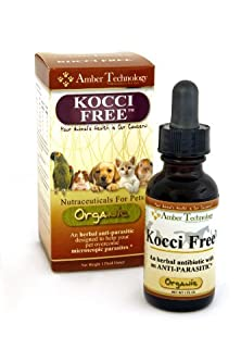buy Kocci Free 1Oz - Herbal Supplement Anti-Parasitic Designed To Help Your Pet Overcome Microscopic Parasites Such As Giardia And Coccidiosis