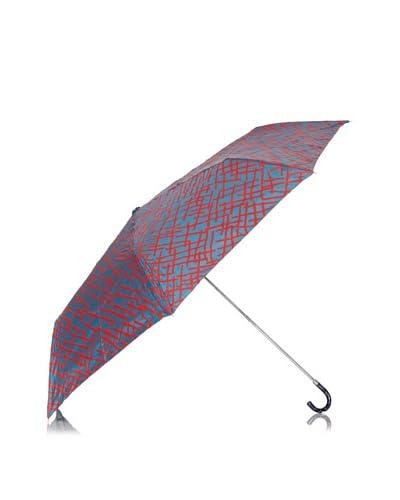 Dots Paraguas Plegable Pinceladas Azul