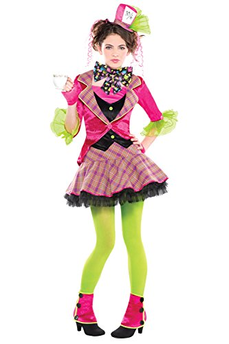 Teens Alice In Wonderland Mad Hatter Fancy Dress Costume