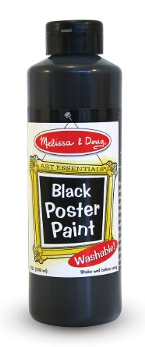 Melissa & Doug Poster 8-Ounce Paint, Black