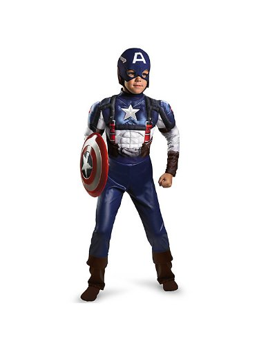 Captain America Muscle Classic Costume - Medium