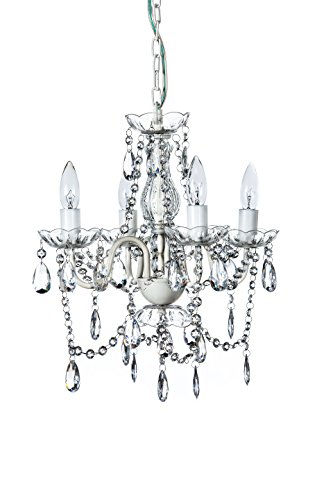 The Original Gypsy Color 4 Light Small Shabby Chic Crystal Chandelier H18