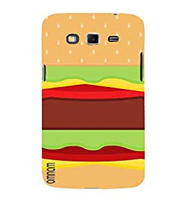 Omnam Burger Printed Designer Back Cover Case For Samsung Galaxy Grand 2