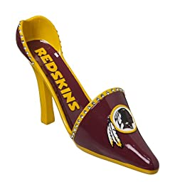 Cypress Decorative Team Shoe Wine Bottle Holder, Washington Redskins