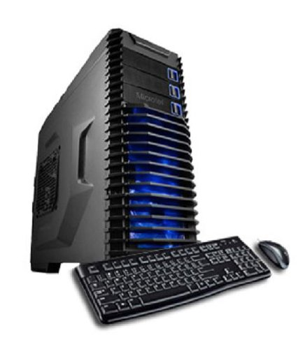 Microtel Computer® AMTI9042 Liquid Cooling Gaming Computer with Intel i7 3820 3.6Ghz Processor, 16GB DDR3/1333, 1TB Hard Drive, 24X DVD-RW, Radeon HD 7850 2GB GDDR5 Video Card, 1000Watt PS, X79 Chipset, Microsoft Windows 8 Full Version CD - 64 bit + WiFi