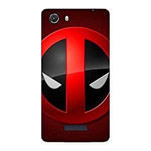 Cute Dead Eye Round Red Back Case Cover for Micromax Unite 3