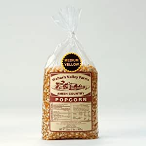 Wabash Valley Farms 41409 Amish Country Gourmet Popping Corn - Medium Yellow 2 lb
