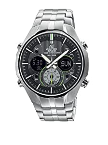 Casio Herren-Armbanduhr XL Edifice Analog - Digital Quarz Edelstahl EFA-135D-1A3VEF