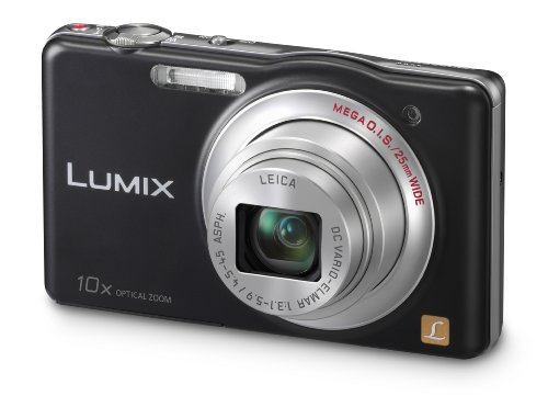 Panasonic DMC-SZ1EB-K Compact Digital Camera - Black (16.1MP, 10x Optical Zoom, 25mm LEICA Lens and HD Movie)