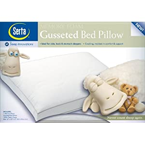 Serta Molded Gusseted Memory Foam Pillow