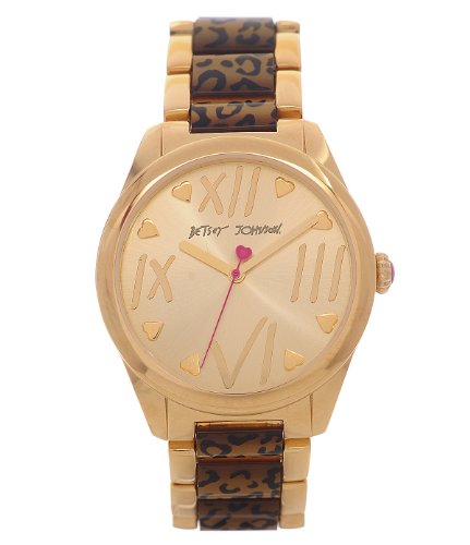 Betsey Johnson Leopard Metal Watch