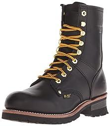 AdTec Men\'s 9 Inch Logger Boot, Black, 9 M US