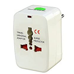 Storite International All In One Universal World Wide Travel Plug Adapter White