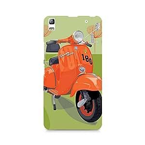 Motivatebox- Orange Vespa Premium Printed Case For Lenovo A7000 -Matte Polycarbonate 3D Hard case Mobile Cell Phone Protective BACK CASE COVER. Hard Shockproof Scratch-