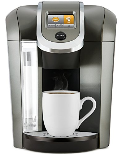 Keurig K575 Single Serve Programmable K-Cup Coffee Maker with 12 oz brew size and hot water on demand, Platinum (Carafe Size K Cup compare prices)