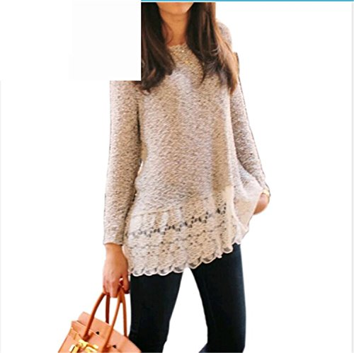 Sicong2 Up-to-Date style Women Sweater 2016 New Arrival Casual Fashion Autumn Pullover Print Floral Knitted Full sleeve Lace O-Neck Female Sweater BeigeS Modern