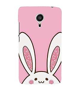 Cute Rabbit 3D Hard Polycarbonate Designer Back Case Cover for Meizu MX5