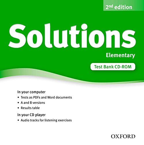 Solutions Elementary: Test CD-ROM 2nd Edition (Solutions Second Edition)
