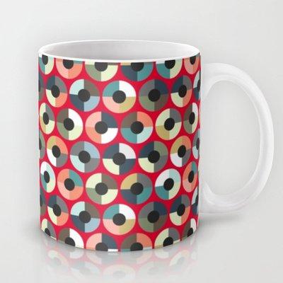 Society6 - London Beauty Target Red Coffee Tea Mug By Sharon Turner