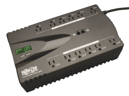 Tripp Lite ECO850LCD 850VA 425W UPS Eco Green Battery Back Up LCD 120V USB RJ11 PC, 12 Outlets