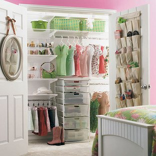 "elfa Girl's Reach-In Closet White, 74"" X 16"" X 8'"