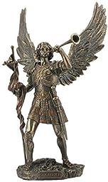 13 Inch Archangel - Saint Gabriel with Horn Cold Cast Bronze Figurine by US